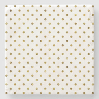 Chic Gold Glam Dots Stone Coaster