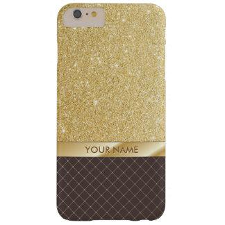 Chic Gold Glitter Custom Name iPhone 6 Plus Case
