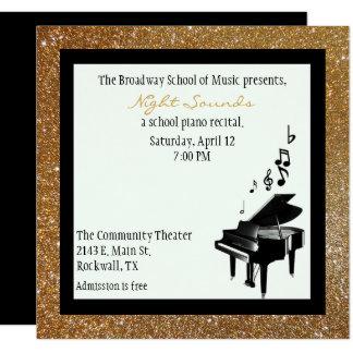 Piano Recital Invitations Announcements Zazzle