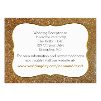 Chic Gold Glitter Look Wedding Enclosure Card Large Business Cards (Pack Of 100)