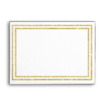 Chic Gold Glittered Trim - Envelope