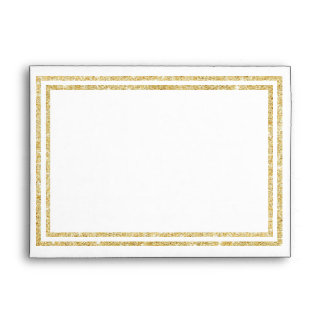 Chic Gold Glittered Trim - Envelope