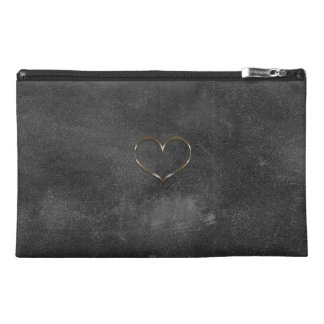Chic Gold Heart Old Leather Look  Bag