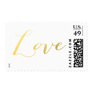 CHIC GOLD LOVE POSTAGE