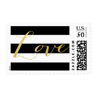 CHIC GOLD LOVE | STRIPED BLACK POSTAGE