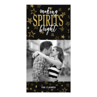 CHIC GOLD | MAKING SPIRITS BRIGHT STARS CARD
