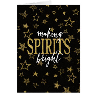 CHIC GOLD   MAKING SPIRITS BRIGHT STARS CARD