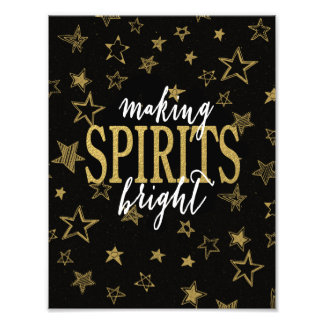 CHIC GOLD | MAKING SPIRITS BRIGHT STARS PHOTO PRINT