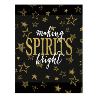 CHIC GOLD   MAKING SPIRITS BRIGHT STARS POSTCARD