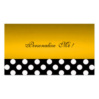 Chic Gold Modern Elegant Polka Dots Save-the-Date Double-Sided Standard Business Cards (Pack Of 100)