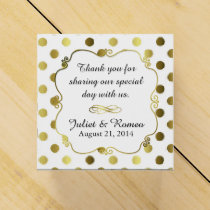 Chic Gold Polka Dot Custom Wedding Favor Gift Box