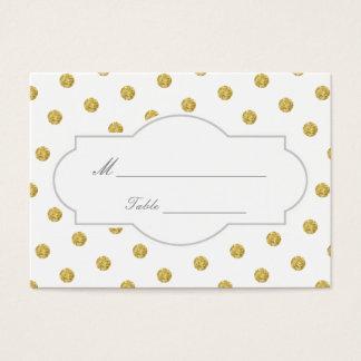 Chic Gold Polka Dots Wedding Place Card