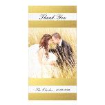 CHIC GOLD PRINT | WEDDING THANK YOU PHOTO CARD
