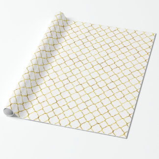 Chic Gold Quatrefoil Wrapping Paper