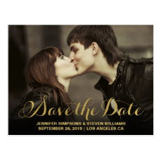 CHIC GOLD | SAVE THE DATE ANNOUNCEMENT POSTCARD