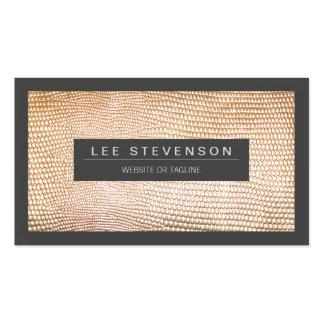 Chic Gold Snake Skin Fashion Business Card