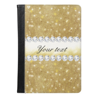 Chic Gold Sparkling Stars and Diamonds iPad Air Case