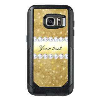 Chic Gold Sparkling Stars and Diamonds OtterBox Samsung Galaxy S7 Case