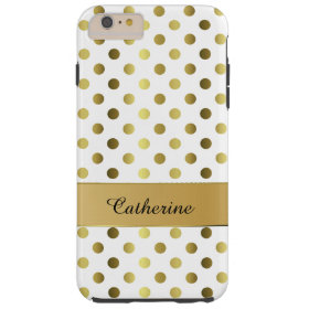 Chic Gold & White Polka Dot iPhone 6 Plus case iPhone 6 Case