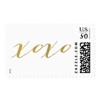 CHIC GOLD XOXO POSTAGE