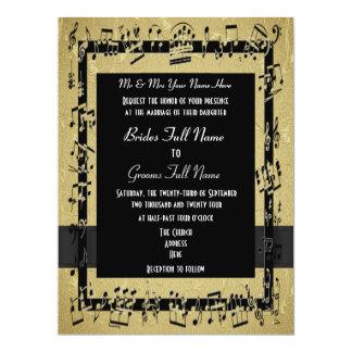 Chic golden elegant formal wedding 6.5x8.75 paper invitation card