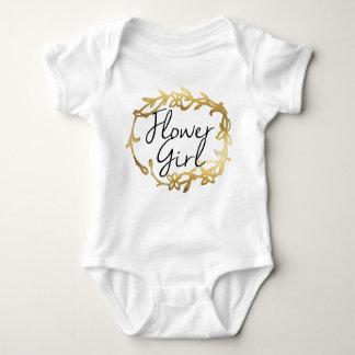 Chic Golden Floral | Flower Girl Baby Bodysuit