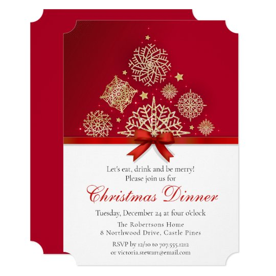 Chic Golden Mandala Christmas Dinner Party Invitation