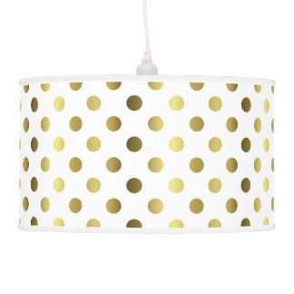 Chic Golden Yellow Polka Dots Lamp