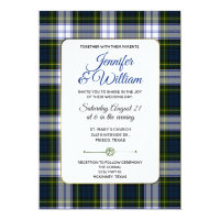 Chic Gordon Dress Tartan Plaid Wedding Invitation