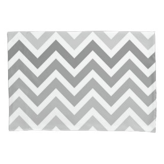 Chic Gray Chevron Ombre ZigZag Pattern Pillow Case