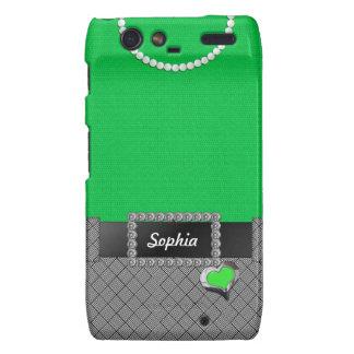 Chic Green Dress Motorola Droid Razr Case