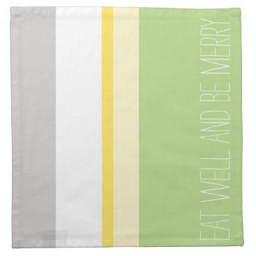 Beach Themed Chic green modern minimalist, Eat Well & Be Merry Napkin