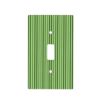 Chic Green Vertical Stripes