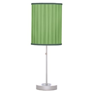 Chic Green Vertical Stripes Table Lamps