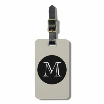GiftMePlease CHIC GROUPON LUGGAGE TAG_547 SAND/BLACK/MONOGRAM LUGGAGE TAG