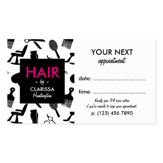 Chic Hair Stylist Appointment Card Business Card