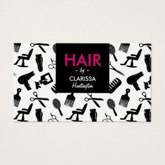 Chic Hair Stylist Business Card