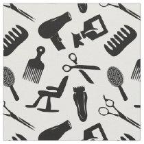 Chic Hair Stylist Pattern Fabric