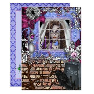 Chic Halloween Bridal Shower Invitation