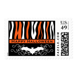 Chic Halloween pattern Postage