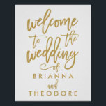 "Chic Hand Lettered Gold Wedding Welcome Sign<br><div class=""desc"">Gold Wedding Welcome Sign</div>"