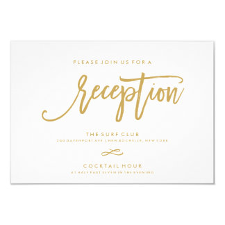 Chic Hand Lettered Reception Accommodations 2-Side Card