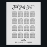 """Chic Hand Lettered Seating Chart<br><div class=""""desc"""">Visit the rest of the collection.</div>"""