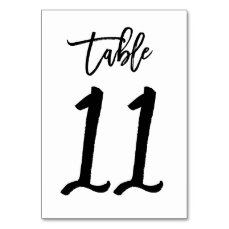 Chic Hand Lettered Table Number Card | Table 11