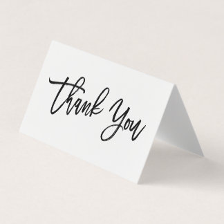 Chic Hand Lettered Thank You Card