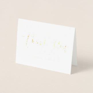 Chic Hand Lettered Thank You Card Gold Foil