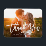 "Chic Hand Lettered Thank You Photo Magnet<br><div class=""desc"">This stylish full-bleed 1-photo magnet features a beautiful free-spirited handwritten script that says &quot;Thank You&quot;. Personalize with your favorite photo.</div>"