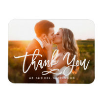 Chic Hand Lettered Thank You Photo Magnet