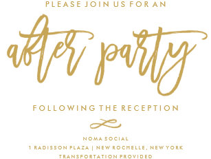 After wedding invitations zazzle chic hand lettered wedding after party invitation stopboris