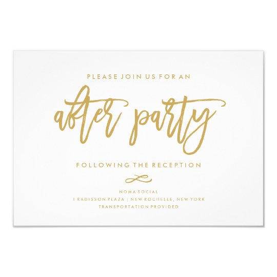 chic hand lettered wedding after party invitation zazzle com